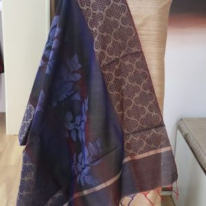 Bhagalpuri Tussar Silk Fabric for Kurti with Cotton weaving Dupatta