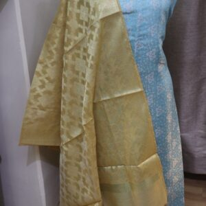 Benarasi Brocade Fabric with Chanderi Weave Dupatta