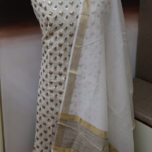 Paudi Jacquard Dyeable Chanderi Fabric with Cotton Dupatta