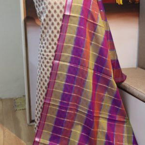 Paudi Jacquard Dyeable Fabric With Multi Jacquard Dupatta