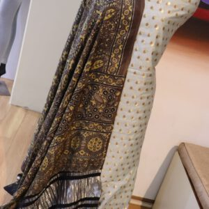 Silk Jacquard fabric with Pure viscose dupatta