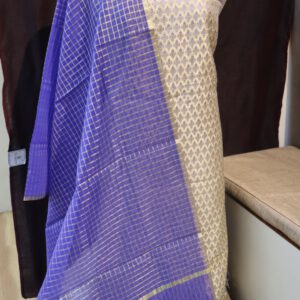 Banarasi Jacquard Fabric with Stripe Dupatta