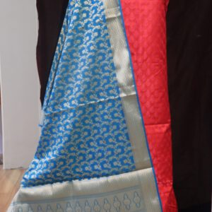 Banarasi Self Jacquard Fabric with Chanderi Dupatta